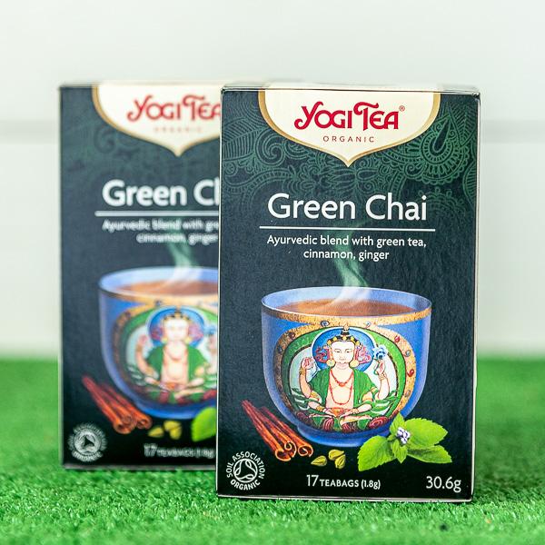 YOGI GREEN TEA 30,6γρ ΒΙΟ image
